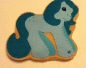 felt easter MLP pony cookie pincushion ornament
