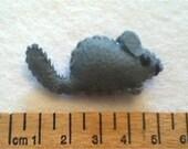 teeny tiny CHINCHILLA felt friend pet - ready to ship