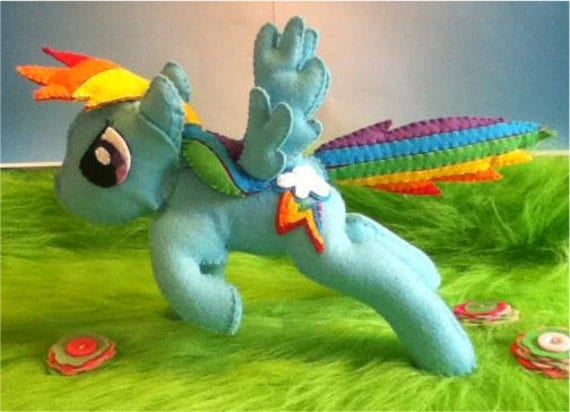 LAST ONE mlp rainbow dash horse plush ornament - ready  to ship