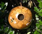 Hand Painted Beehive Gourd Birdhouse