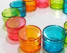Tiny Color Plastic Box - 12pcs Round Boxes