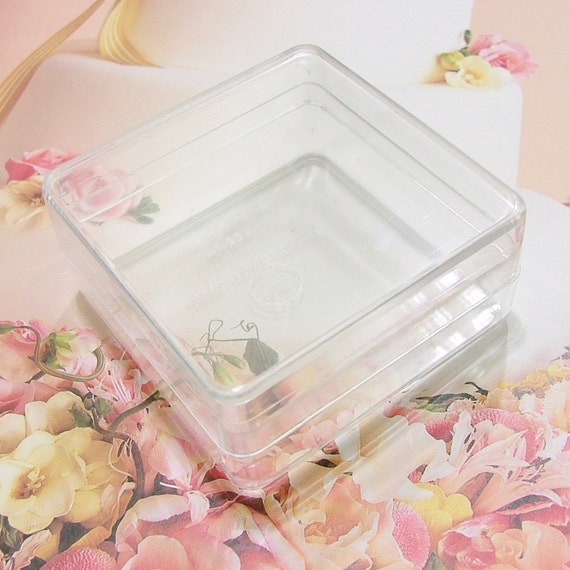 2-inches-Square Boxes - Clear Plastic - 6 boxes
