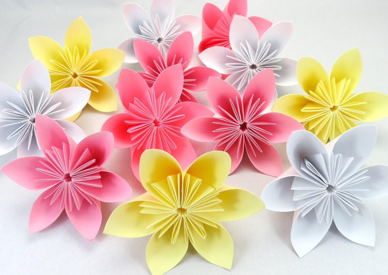 Items similar to Cherry Blossom - Origami Folding Flowers ... - photo#37