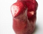 Red Bird for Good Luck - Ceramic - Decoration - Pocket Bird - Primitive - Folk Art - Only One