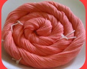 Hand Dyed Solid, Size 30 Cotton Thread for Crochet or Tatting, 300 yards - DEEP CORAL