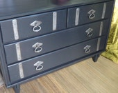 RESERVED Eclectic Chest of Drawers . Vintage. Painted Furniture