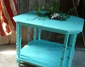 Turquoise Coffee Table.Vintage