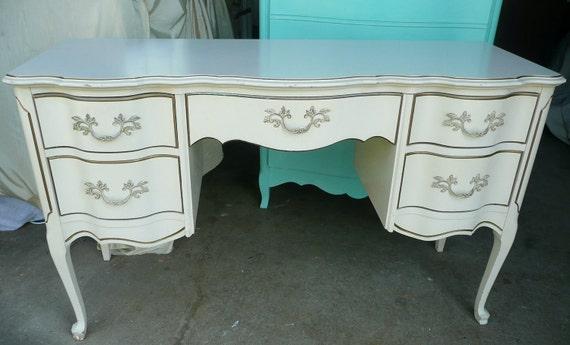 Paris Apartment Ladies Desk Vanity.PAINT to ORDER.Vintage