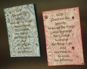 PINK ONLY 12 Step Recovery Themed Inspirational Magnets Serenity Prayer Sobriety AA