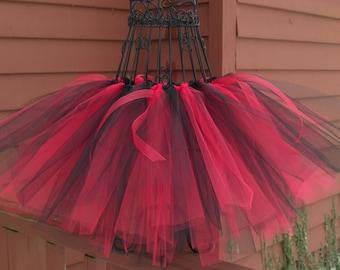 Lil' Devil tutu- Baby devil tutu- Red and black tutu- Devil Costume- Girls Devil costume- Halloween tutu