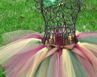 Girls Tutu- Autumn Tutu--ENCHANTED FOREST- Girl Autumn tutu- Fall tutu- Woodland Fairy Costume- Fall baby tutu- Elfin Costume