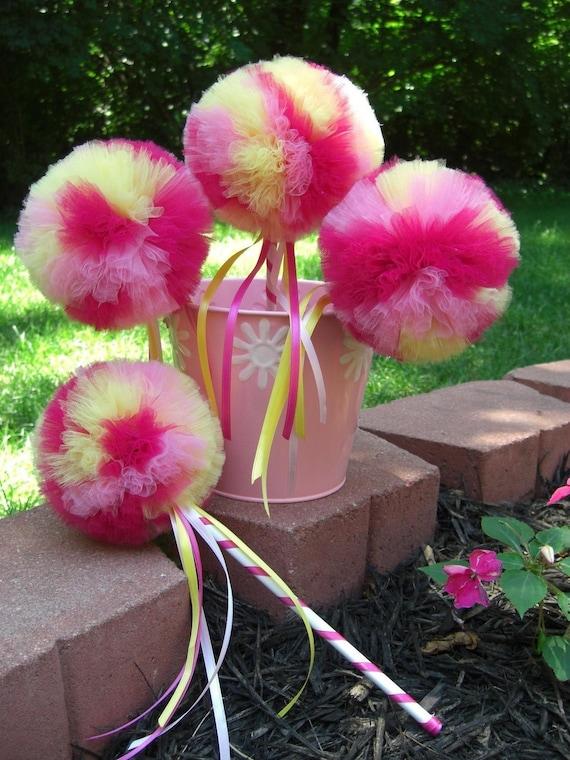 Raspberry Lemonade Poof Wand ---- Princess Play, Birthday Parties, Halloween