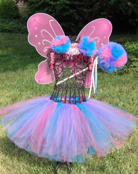 Abby Cadabby 3 pc. Tutu Set----  Tutu, Poof Wand, Headband/Poof Clips---- Lavender, Hot Pink, Turquoise Tutu
