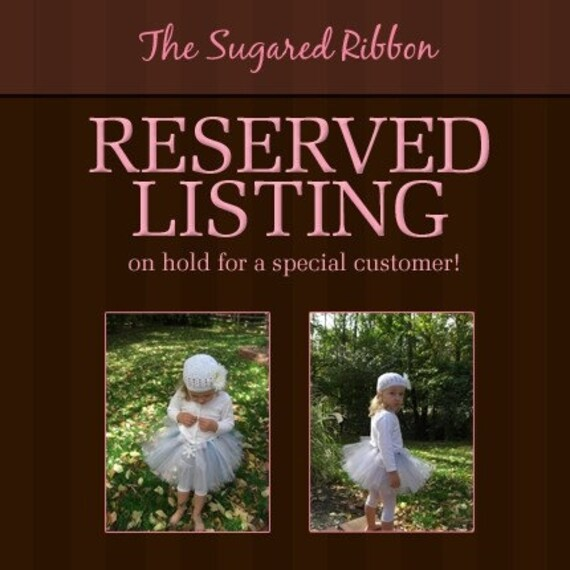Reserved Listing for greeneas