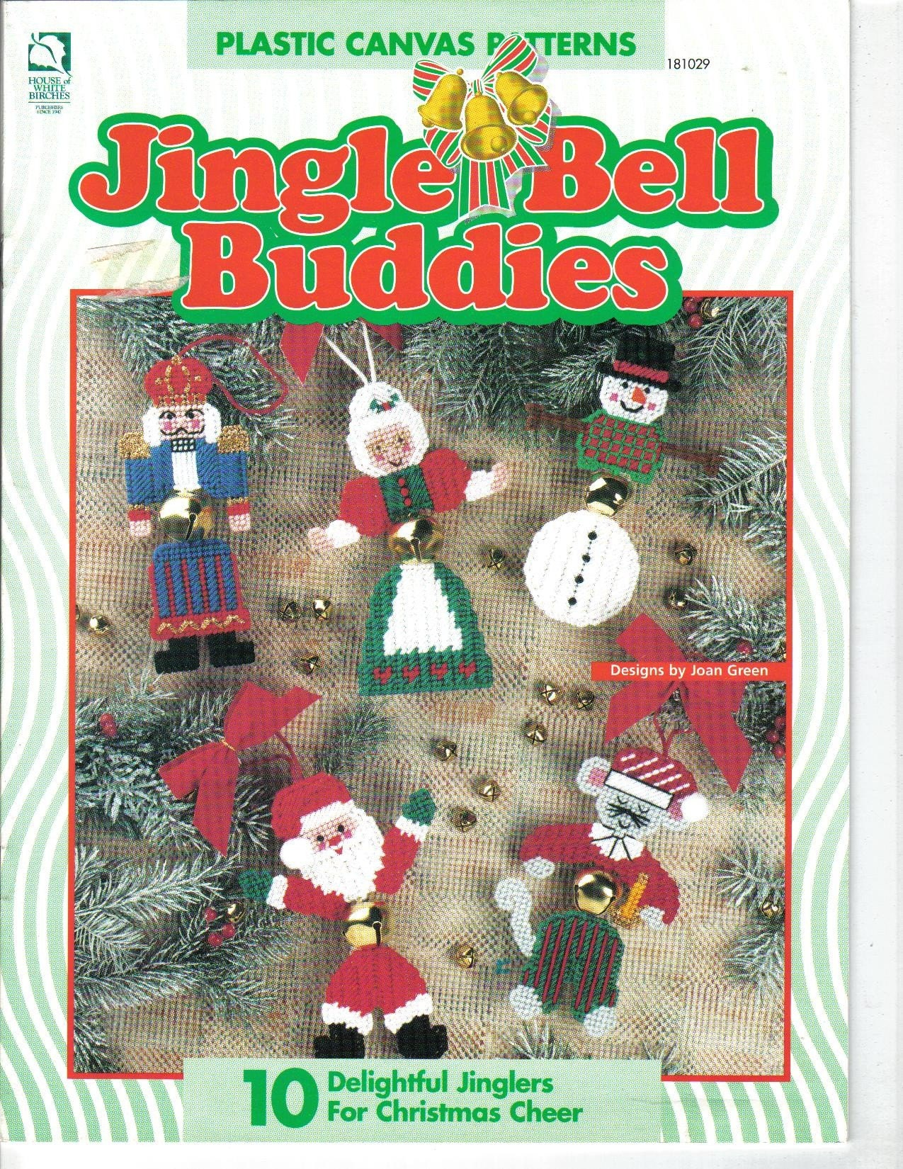 Jingle bell buddies ornaments in plastic canvas pattern book