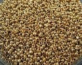 Vintage Italian Micro Seed Beads - Gold Metallic