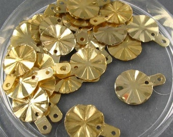 Vintage Sequins - Metallic Pale Gold