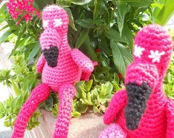 Flo the Flamingo Crochet Pattern PDF