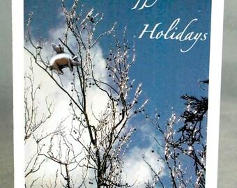 Pigasus Holiday Card Set of 4, Flying Pig Christmas Card Set, Blank Holiday Card Set