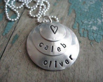 layers of love personalized sterling silver necklace