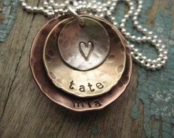 Personalized Hand Stamped Sterling Jewelry By Noisycricket