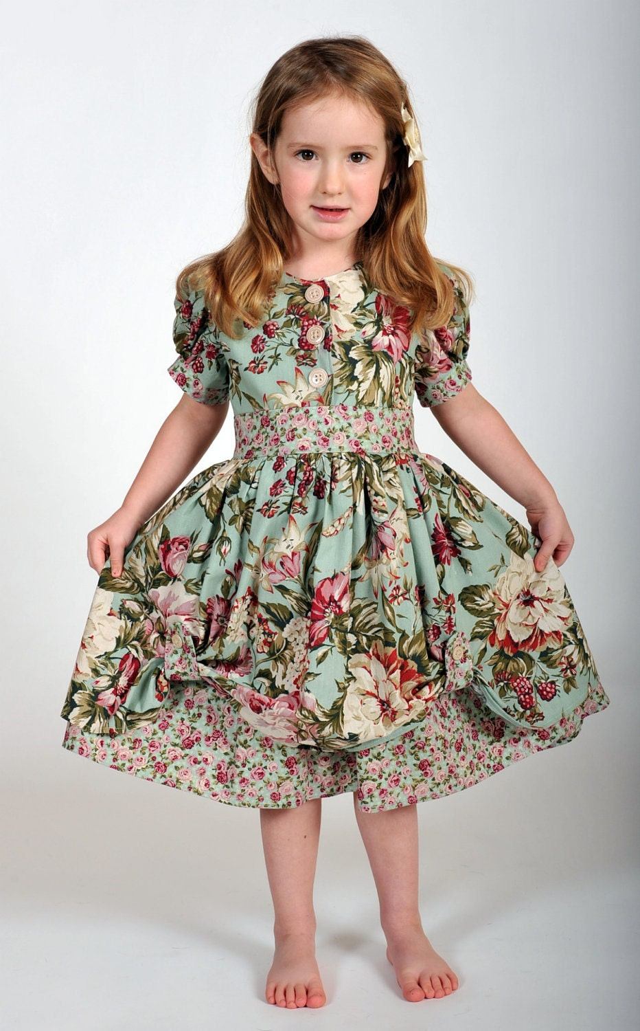 Girls Vintage-Inspired Dress Easter Dress by HarmonyGirlsClothing