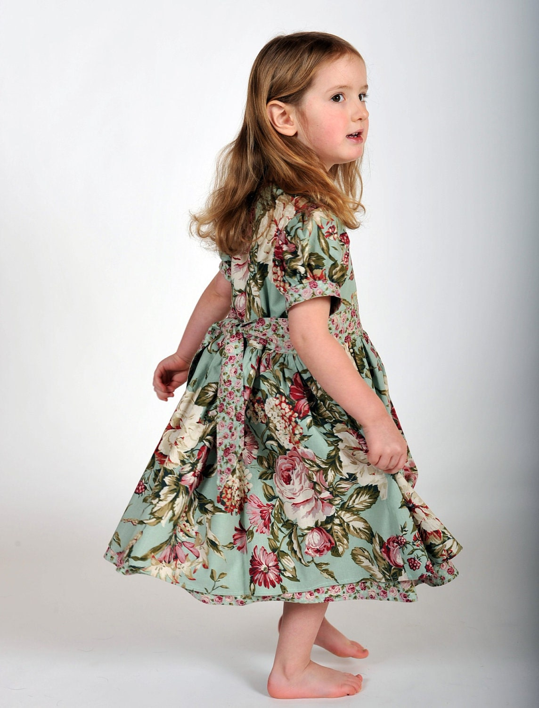 Girls Vintage-Inspired Dress Easter Dress Children Clothing