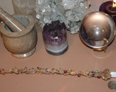 Gemstone Selenite Copper Glass Wand