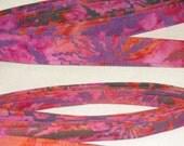 Batik Cannabis Leaf Print Leash
