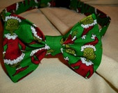 Grinch Bow Tie Collar For Large Dog
