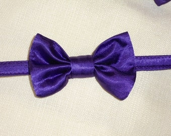 Purple Bow Tie Collar for Cats