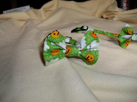 Halloween Cat Bow Tie Collar with Break Away Buckle