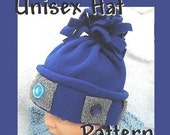 Sewing tutorial FF3 Unisex Blue Hat, newborn to adult sizes provided - Instant Download