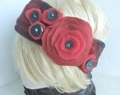 FF229,  TUTORIAL... Make a Fleece Headband, and a Fleece Flower. - Instant Download
