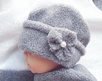 SEWING PATTERN number FF7, Sewing for Beginners, Fleece Hat, Sizes newborn to age 12 - Instant Download