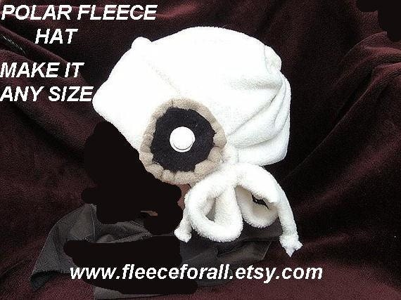 SEWING PATTERN hat,  FF2 Polar fleece hat and flower  All sizes up to adult included - Instant Download