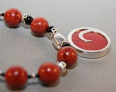 Red Coral Swirl Necklace and Bracelet Set - FREE SHIPPING