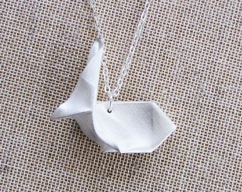Origami Bunny Hops Necklace