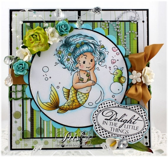 Enchanting - OOAK Handmade Greeting Card - Whimsy Stamps