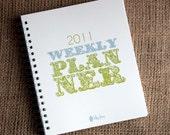 SALE - 2011 Weekly Planner