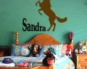 Horse-Personalized-Horse sticker-Vinyl wall decal-42 X 36 inches