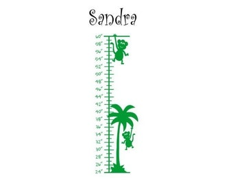 Growth chart decal-Growth chart sticker-Personalized decal-Personalized sticker-8 X 36 inches