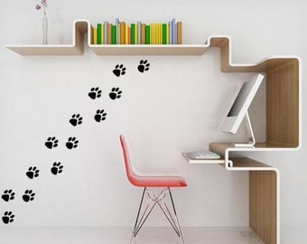 Animal footprint decal-Footprint sticker-Animal footprint sticker-Footprint decal-12-3 X 3 inch
