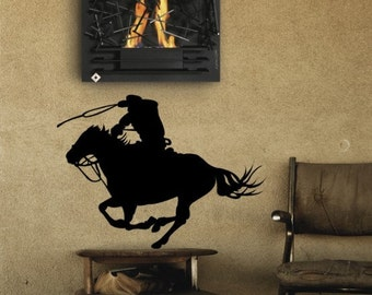 Horse decal-Horse-Western-Vinyl wall sticker-21 X 28 inches