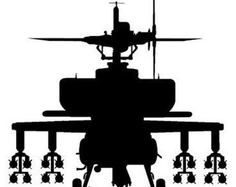 Helicopter decal-Helicopter sticker-Gunship decal-Military decal-Gunship sticker-28 X 28 inches