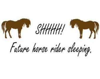 Horse, nursery horse decal, pony, quote, wall words, baby girl nursery, western nursery, childs room, girls room,  34 X 12 inches