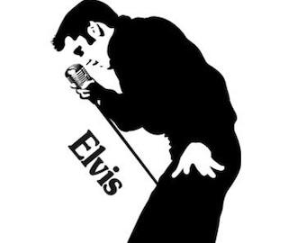 Elvis Presley Decal Etsy De
