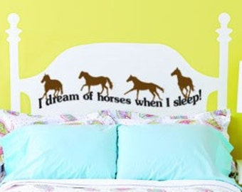 Horse decal-Quote decal-Horse sticker-Quote sticker-Kids room decal-Wall decal-12 X 28 inches