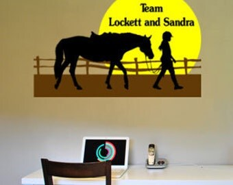 Horse-Horse decal-Vinyl wall sticker-Horse sticker-Personalized-36 X 24 inches