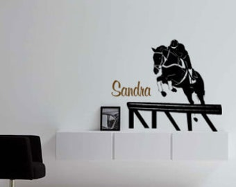 Horse decal-Horse sticker-Personalized sticker-Hunter jumper decal-Kids room decor-28 X 29 inches